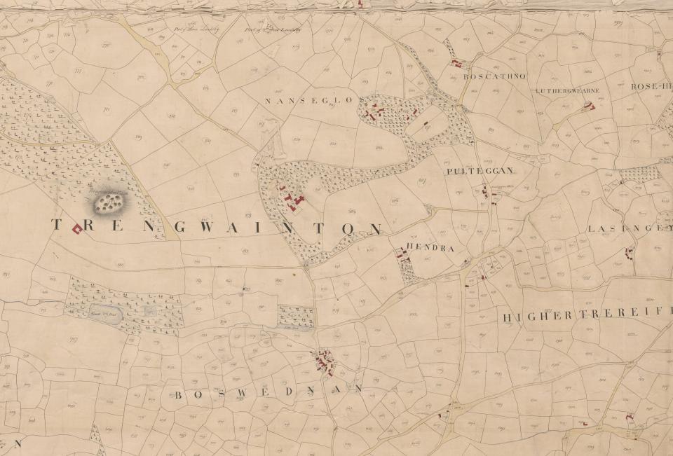 Trengwainton Tithe map, 1840