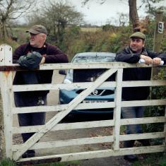 Gareth, gardener at Trengwainton on left with Phil, Head gardener on right