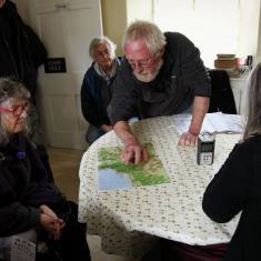 Adam explaining a map to us