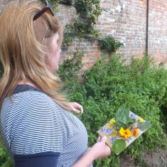 Vicky in the walled kitchen garden. Photo © Jane Bailey