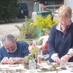 David and Yvonne. Jane's sensory workshop. Photo © Jane Bailey
